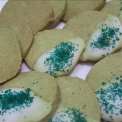 Green Tea Shortbread Cookies recipe