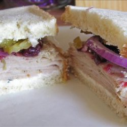 Cranberry Turkey Sandwich on Sourdough Non-Dairy recipe
