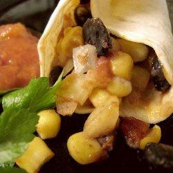 Corn and Black Bean Wraps recipe