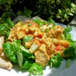 Cold Curried Chicken Salad With Cranberries recipe