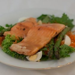 Grilled Salmon and Asparagus Salad recipe
