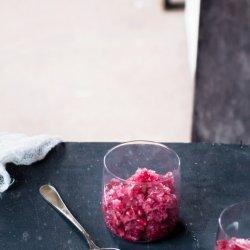 Pomegranate Granita recipe