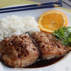 Ginger Glazed Mahi Mahi recipe