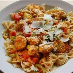 Pasta Primavera with Italian Turkey Sausage recipe