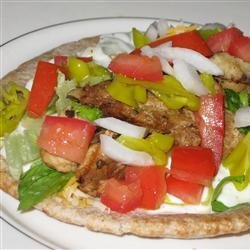 Chicken Souvlaki Gyro Style recipe