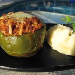 Kelsey's Favorite Stuffed Green Peppers recipe
