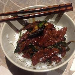 Mongolian Beef and Spring Onions recipe