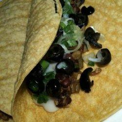 Black Bean, Zucchini, & Olive Tacos recipe