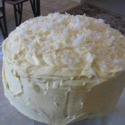 Coconut Layer Cake W/ Cream Cheese Coconut Frosting recipe
