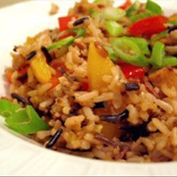 Brown Rice Stir-Fry With Flavored Tofu and Vegetables recipe