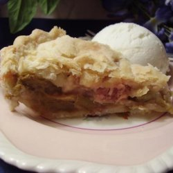 Pie Plant Pie Aka Rhubarb Pie recipe