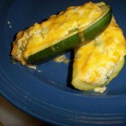 Zucchini Stuffed with Corn and Cheese recipe