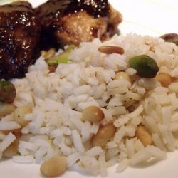 Pilau Rice With Pistachios and and Pine Nuts recipe