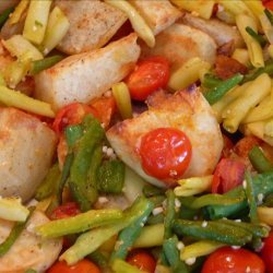 Roasted Potatoes, Cherry Tomatoes, and Green Beans recipe