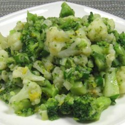 Cauliflower and Broccoli with Mustard, Chive and Lemon recipe