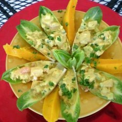 Curried Crab in Endive Spears recipe