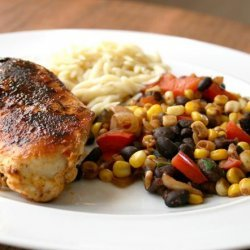 Chicken With Balsamic Succotash recipe