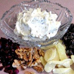 Walnut, Raisin,dried Cranberries Cream Cheese Spread recipe