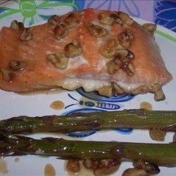 Honey Glazed Salmon With Asparagus recipe
