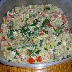 Warm Orzo Salad recipe