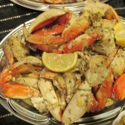Garlic Roasted Crab recipe