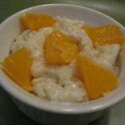 Rice Pudding With Vanilla Bean, Orange and Rum recipe