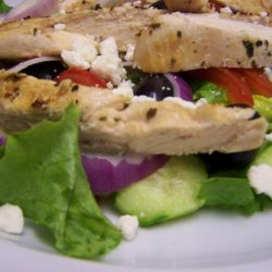 Greek Salad With Grilled Chicken recipe