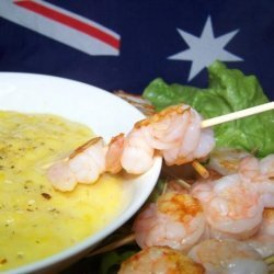 Barbecued Shrimp With Mango Lime Mayonnaise recipe