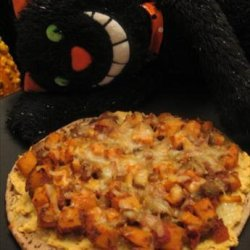 Low Fat Curried Red Lentil  & Sweet Potato Pizza (Vegetarian recipe