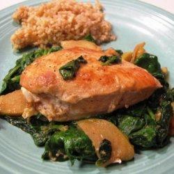 Apple Spinach Chicken recipe