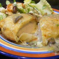 Chicken Wellington With Mushroom Veloute Sauce recipe