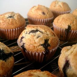 Healthy Berry Blue Muffins recipe
