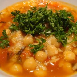 Chickpea and Orzo Soup recipe