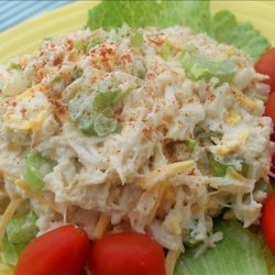 Simple Healthier Seafood Salad recipe