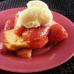 Balsamic Strawberries and Ice Cream on Pound Cake recipe
