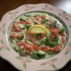 Salata Tahini--Middle Eastern Tahini Salad recipe