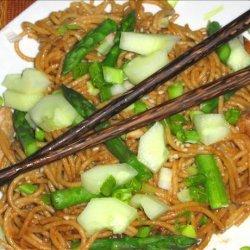 Sesame Chicken and Asparagus Pasta recipe