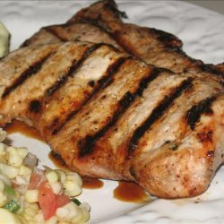 Pork Chops With Horseradish-Maple Glaze recipe