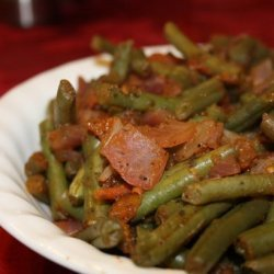 Green Beans Stewed With Tomatoes recipe