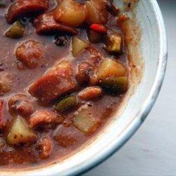 Sylvie's Spicy Bean and Bacon Soup recipe