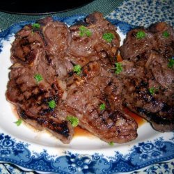 Grilled Lamb Chops in Pomegranate Marinated recipe