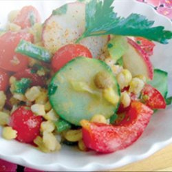 Tomato Rice Salad recipe