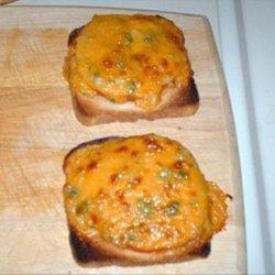 Broiled Cheddar Tomato Sandwiches recipe