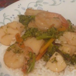 Fast and Easy Scallop Stir Fry for One recipe