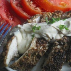 Southern Pecan crusted Chicken with Mustard sauce recipe