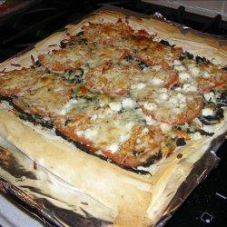 Greek Phyllo Pizza recipe