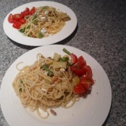 Linguine With Green Beans and Goat Cheese recipe