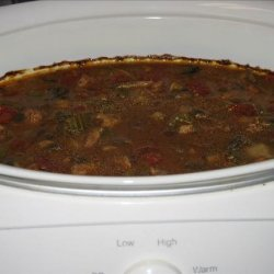 Crock Pot Beef and Mushroom Soup recipe