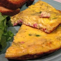 Spring Frittata With Ham, Asparagus, and Herbs recipe