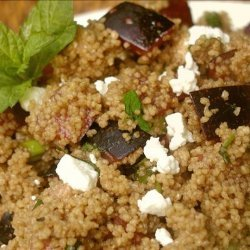 Whole Wheat Couscous With Plums, Goat Cheese and Fresh Mint recipe